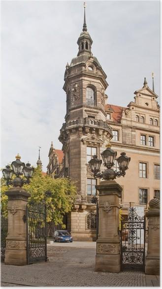 Plakát Ulicích Drážďan - Soukromé budovy