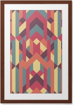 Plakát v rámu Abstraktní retro geometrický vzor