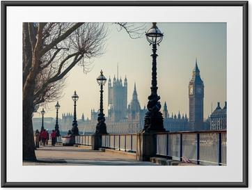 Plakát v rámu Big Ben a Houses of Parliament, London