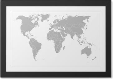 Plakát v rámu Mapa světa