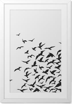 Plakát v rámu Ptáci _ Pozadí