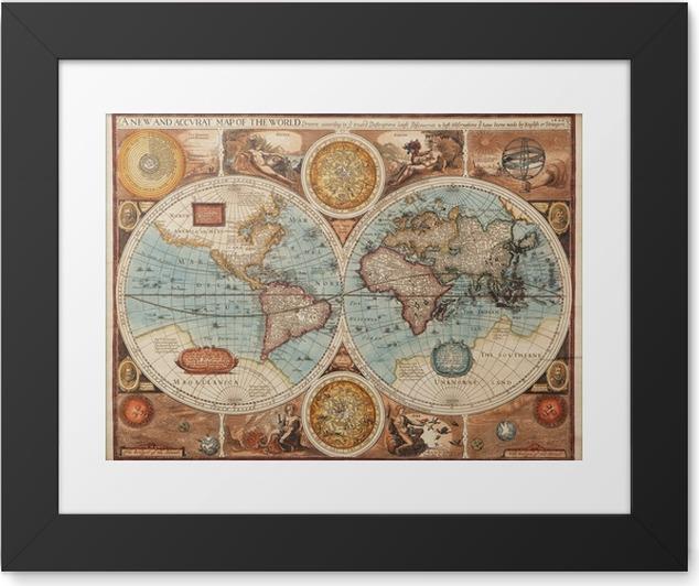 Plakát v rámu Staré mapy (1626) -