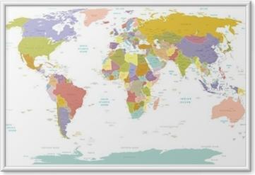 Plakát v rámu Vysoké map.Layers Detail World použít.