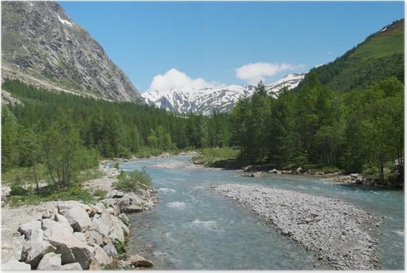 Plakát Valle d'Aosta. La Val Ferret - Evropa