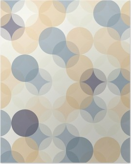 Plakát Vektorové moderní bezešvé barevné geometrie vzor kruhy, barevné abstraktní geometrické pozadí, tapety tisk, retro textura, bederní módní návrhářství, __