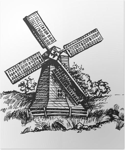 Plakát Větrná turbína 1 - Umění a tvorba