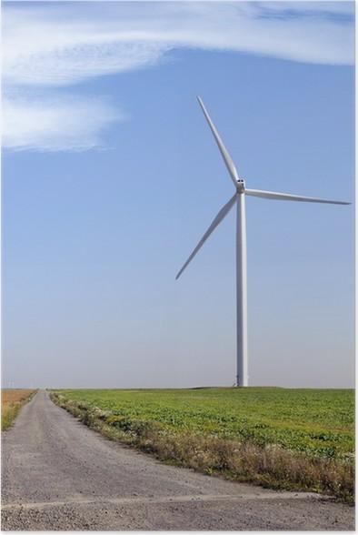 Plakát Větrné turbíny v poli na větrné farmy, Boulay, Moselle - Ekologie
