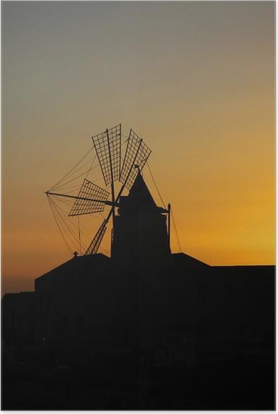 Plakát Větrný mlýn - Evropa