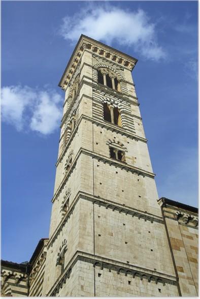 Plakát Věž katedrály Prato, Itálie - Evropa