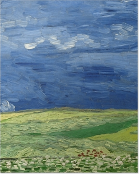 Plakat Vincent van Gogh - Burzowe chmury nad polem - Reproductions