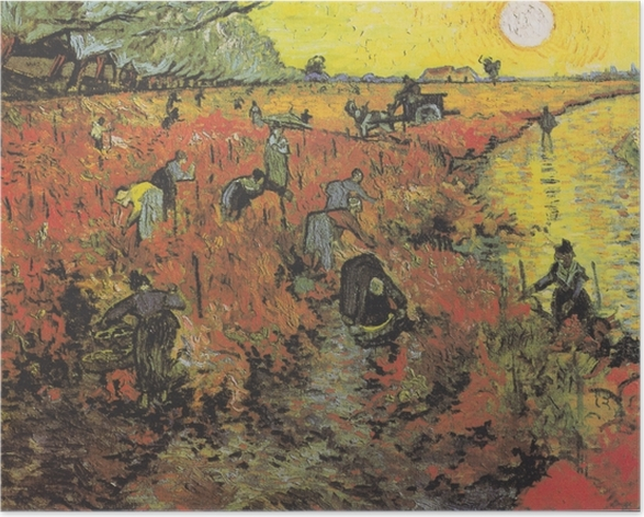 Plakat Vincent van Gogh - Czerwone winnice w Arles - Reproductions