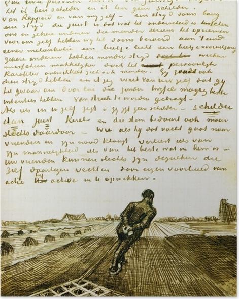 Plakat Vincent van Gogh - Człowiek ciągnący brona - Reproductions