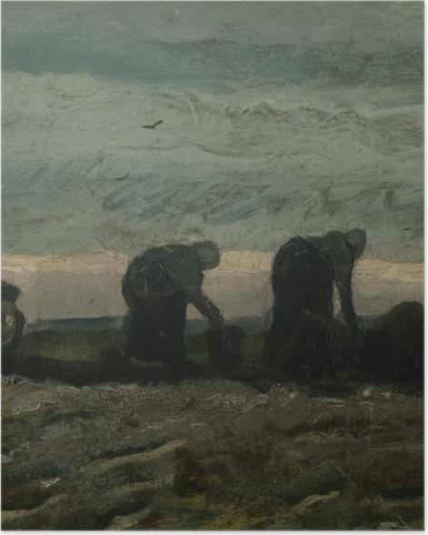 Plakat Vincent van Gogh - Dwie kobiety na wrzosowisku - Reproductions