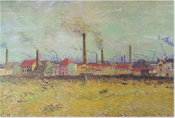 Plakat Vincent van Gogh - Farbryki w Asnières - Reproductions