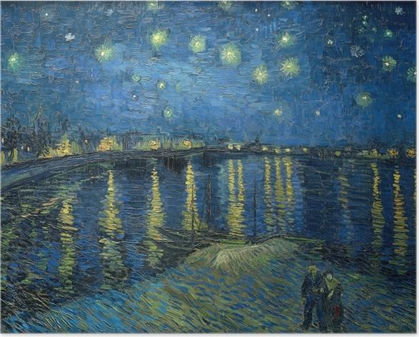 Plakat Vincent van Gogh - Gwiaździsta noc nad Rodanem - Reproductions