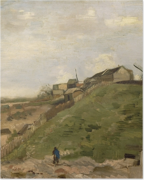 Plakat Vincent van Gogh - Kamieniołom na wzórzu Montmartre - Reproductions
