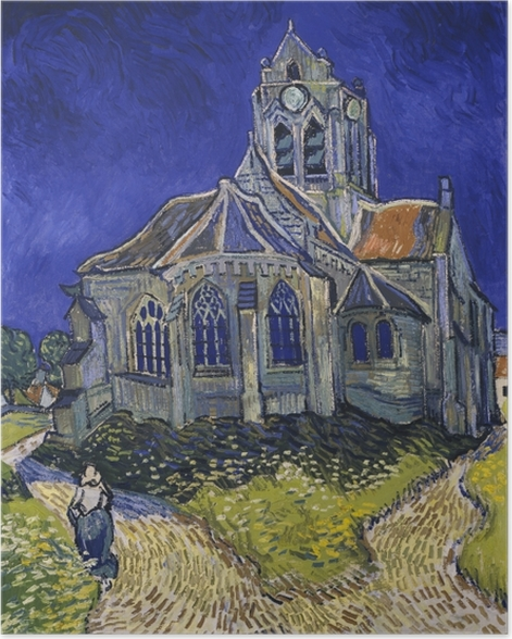 Plakat Vincent van Gogh - Kościół w Auvers - Reproductions