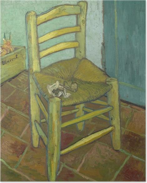 Plakat Vincent van Gogh - Krzesło Van Gogha - Reproductions