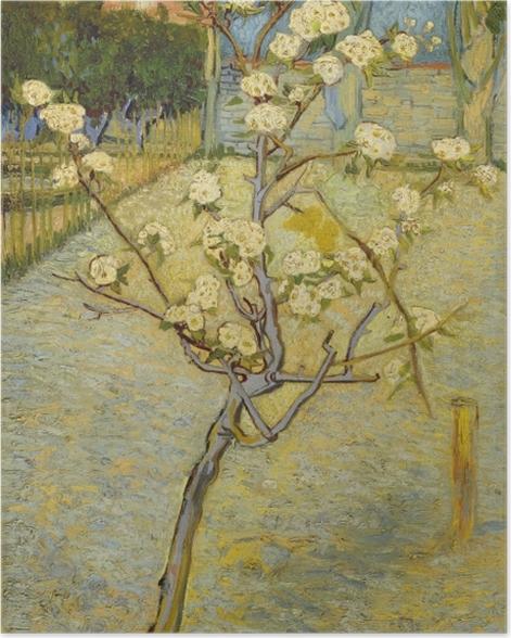Plakat Vincent van Gogh - Kwitnące drzewo brzoskwiniowe - Reproductions