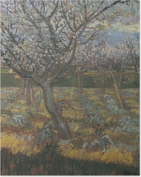 Plakat Vincent van Gogh - Kwitnący sad z morelowymi drzewami - Reproductions