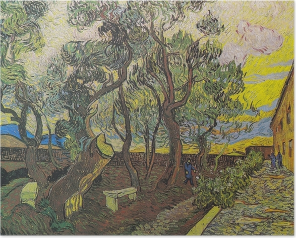 Plakat Vincent van Gogh - Ogród w szpitalu św. Pawła - Reproductions
