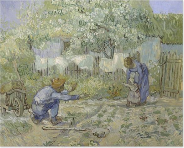 Plakat Vincent van Gogh - Pierwsze kroki - Reproductions