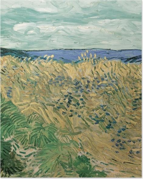 Plakat Vincent van Gogh - Pole zboża z chabrami - Reproductions