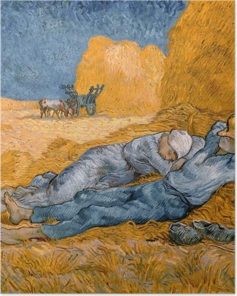 Plakat Vincent van Gogh - Południowa siesta - Reproductions