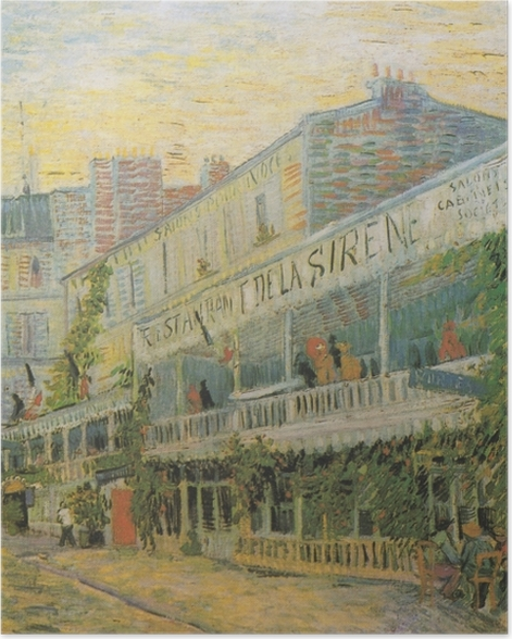 Plakat Vincent van Gogh - Restauracja Syrena w Asnieres - Reproductions