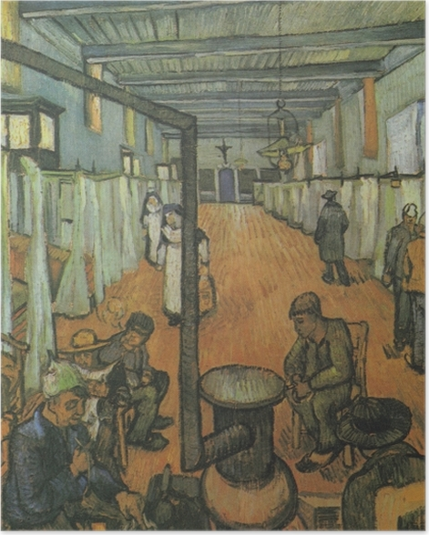 Plakat Vincent van Gogh - Sala szpitalna w Arles - Reproductions