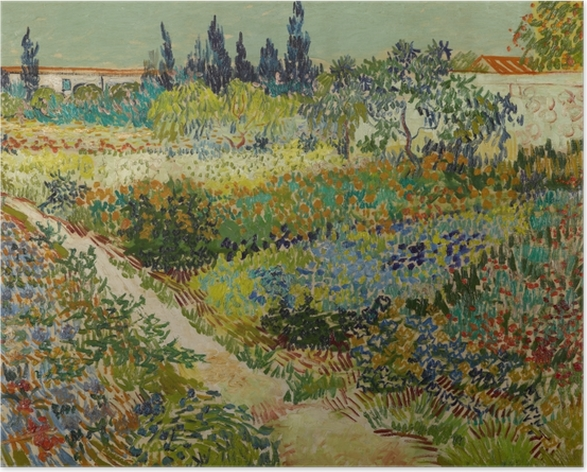 Plakat Vincent van Gogh - Ścieżka w kwitnącym ogrodzie - Reproductions