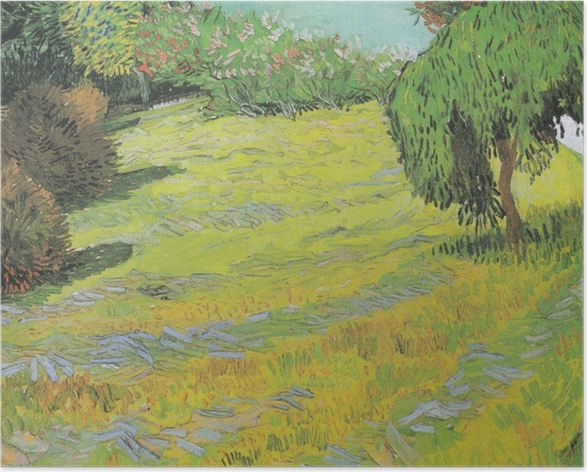 Plakat Vincent van Gogh - Słoneczny trawnik w parku - Reproductions