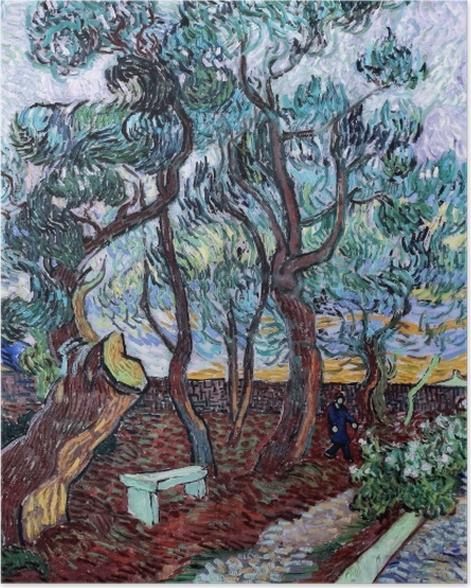 Plakat Vincent van Gogh - Szpitalny ogród w St. Remy - Reproductions