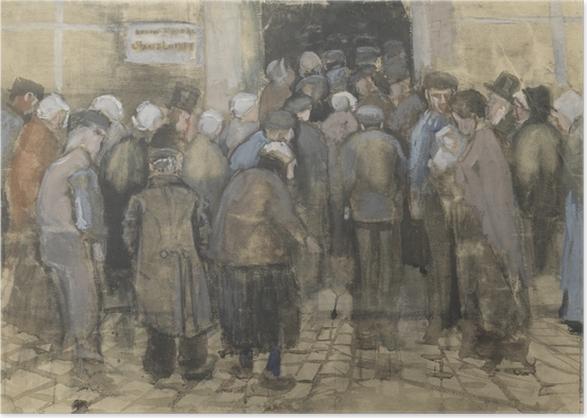 Plakat Vincent van Gogh - Ubodzy w kolejce po pieniądze - Reproductions