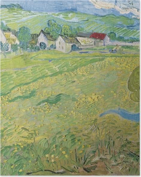 Plakat Vincent van Gogh - Widok na Auvers nieopodal Les Vessenots - Reproductions