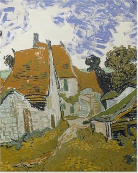 Plakat Vincent van Gogh - Wiejska droga w Auvers - Reproductions