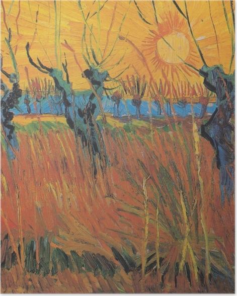 Plakat Vincent van Gogh - Wierzby o zachodzie słońca - Reproductions