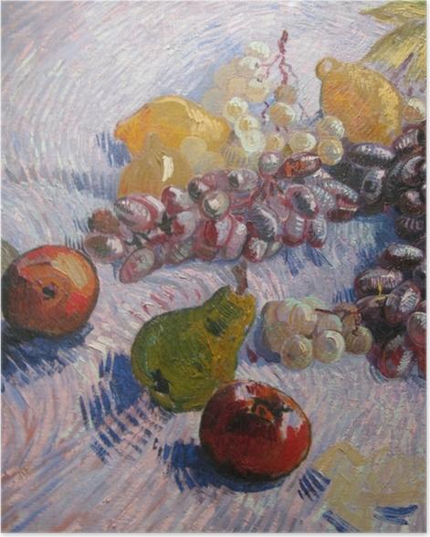 Plakat Vincent van Gogh - Winogrona, cytryny, gruszki i jabłka - Reproductions