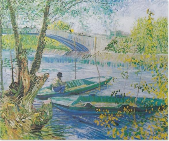 Plakat Vincent van Gogh - Wiosenne łowienie - Reproductions