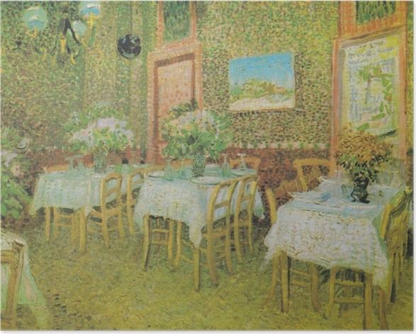 Plakat Vincent van Gogh - Wnętrze restauracji - Reproductions