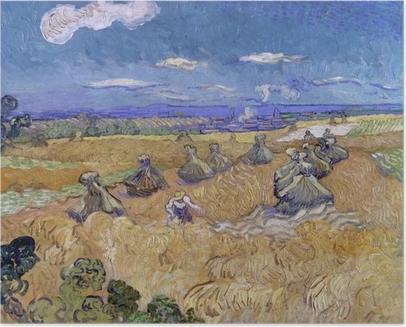 Plakat Vincent van Gogh - Zbiory na polach pszenicy - Reproductions