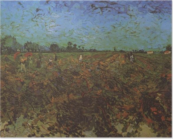 Plakat Vincent van Gogh - Zielona winnica - Reproductions