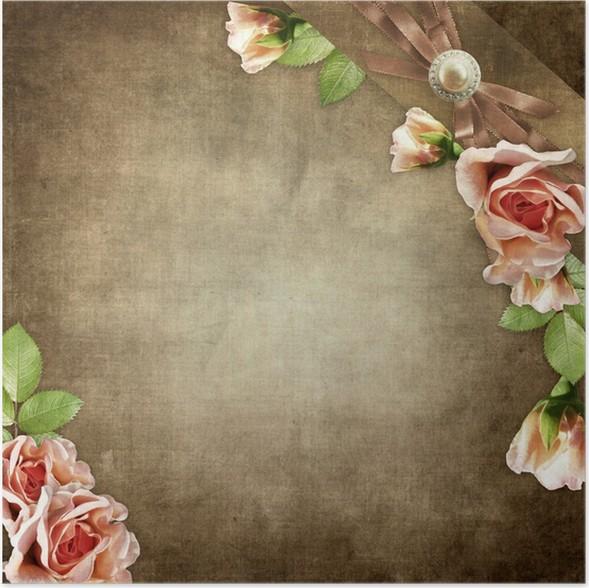 Plakát Vintage pozadí pro pozvání nebo blahopřání - Slavnosti