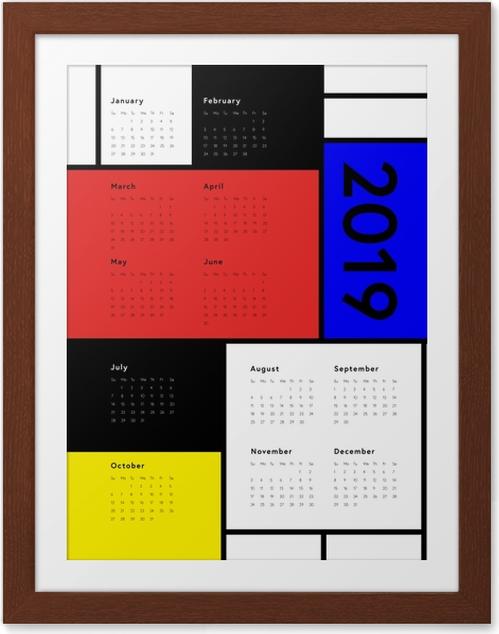Plakat w ramie Kalendarz 2019 - Art - Kalendarze 2018