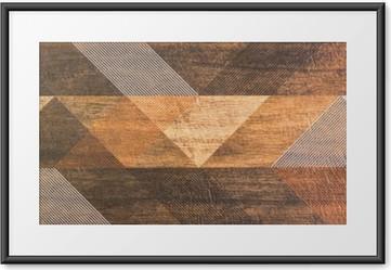 Plakat w ramie Płytki z geometrycznych kształtów