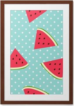 Plakat w ramie Watermelon szwu z kropkami