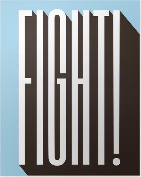 Plakat Walcz - Motywacyjne