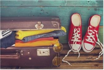 Plakat Walizka na wakacje