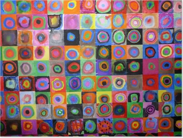 Plakat Wassily Kandinsky - Studium koloru, kwadrat z koncentrycznymi kręgami - Reprodukcje