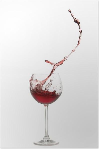 Plakát Weinglas-Splash - Alkohol
